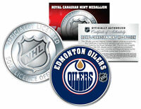 EDMONTON OILERS Royal Canadian Mint Medallion NHL Colorized Coin * LICENSED *
