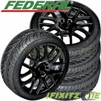 4 New Federal SS-595 195/45R15 78V BSW All Season UHP High Performance Tires