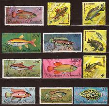 BURUNDI fish , Sea-fish protection wildlife marine 28m499