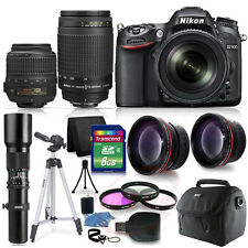 Nikon D7100 Digital SLR Camera + 18-55 VR 70-300 + 500MM 4 Lens + accessory kit