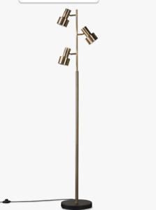 John Lewis 'Shelby' 3 Light LED Floor Lamp in Antique Brass NEW