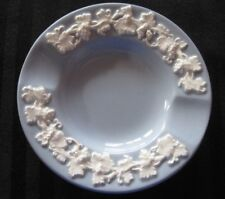 Wedgwood Creamware Embossed Queensware Lavender Blue England Plate Ashtray Vtg
