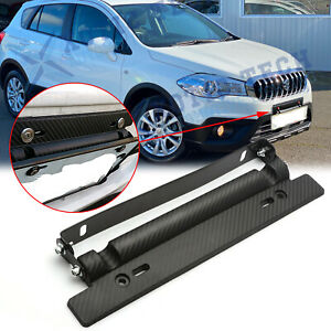 For Suzuki sx4 Carbon Fiber Style Bumper Adjustable License Plate Mount bracket