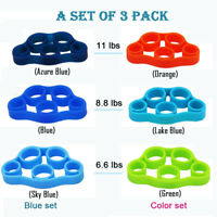3/6pcs Hand Gripper Forearm Wrist Training Finger Stretcher Resistance Bands Gym