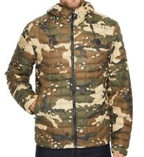 THE NORTH FACE Thermoball Hoodie Mens Large Olive Green Camo Jacket NEW $220