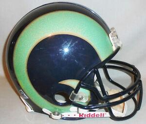 Rare -St Louis/LA Rams- Game Used NFL Football Riddell VSR-4 Uniform Helmet