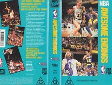 BASKETBALL ~ AWESOME ENDINGS~ VHS PAL VIDEO~ A RARE FIND