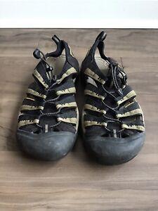 Keen Newport H2 Hiking Sandal Water Shoe Size 11 Black Stone Grey