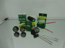 1:64 Scale Turtle Wax Garage Diorama Accents + 4 Falken Azenis Tires w/Rims H2F