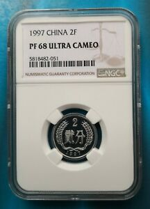 1997 CHINA 2FEN NGC PF68UC China coin