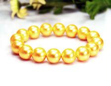 Bracciale in perle de coeur de Coquille IN FORMA A SFERA D-12 mm color oro