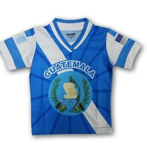 Guatemala/USA Kids Short Sleeve Jersey Blue/White New In Bags
