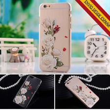 FUNDA IPHONE 6 6S 7 ROSA CON BRILLANTES PIEDRAS PRECIOSAS DURA BUMPER CARCASA