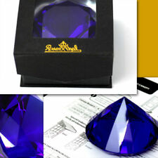 ROSENTHAL Large SAPPHIRE PAPER WEIGHT w/ Box