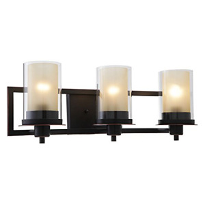 Designers Impressions Juno Oil Rubbed Bronze 3 Light Wall Sconce / Bathroom with
