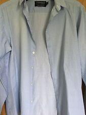 Topman Blue shirt Stripe Men's size medium M Long Sleeve