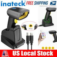 Inateck Barcode Scanner 2D Bluetooth Wireless, QR, Read Screen with Smart Base
