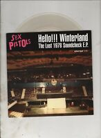 "SEX PISTOLS Hello Winterland 7"" EP w/PS PUNK ROCK Clear Vinyl"