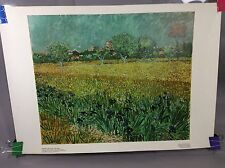 Art Poster Van Gogh View At Arles With Irises color Correction Rijks museum18x15