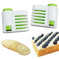 2pcs 5 Layers Kitchen Cake Bread Leveler Cake Slicers Cutting Pop Fixator