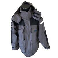Matterhorn Grey Snow Jacket Hooded Size Mens Medium 100% Nylon