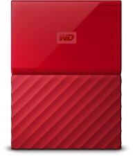 WD 2TB Red My Passport Portable External Hard Drive - USB 3.0 - WDBS4B0020BRD