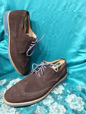 Joseph Abboud Wing Tip Oxford Design Dark Brown Suede Mens Shoes Size 11