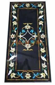 4'x2' Mother of Pearl Marble Dining Table Top Floral Inlaid Kitchen Decors B266