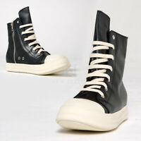 NewStylish Mens Casual Shoes Contrast leather high-top sneakers
