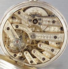 Fina suizo plata esplendor reloj de bolsillo 1860 para el mercado chino