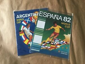 2 BRAND NEW SEALED 100% COMPLETE PANINI ALBUM FIFA WORLD CUP ARGENTINA & ESPAÑA