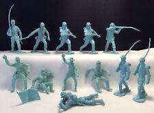 12 Vintage Marx 1950s Civil War Fort Apache Blue Union Caisson Infantry Soldiers