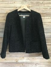J. CREW Women's Astrid Boucle Tweed Jacket Black Gray Wool Sz 6