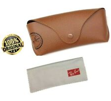 Ray Ban Genuine Eye Glasses/Sunglasses BROWN Cover/CASE/Pouch & Cleaning Cloth