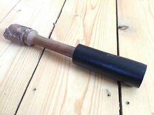 HAND CARVED WOOD & LEATHER FAIR TRADE SINGING BOWL RUBBING STICK STRIKER BEA