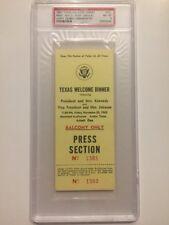 1963 Texas Welcome Dinner PRESS PASS President John F. Kennedy Assassination PSA
