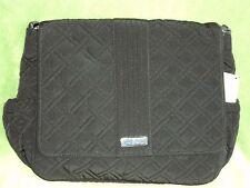 Vera Bradley Messenger Bag in Black Microfiber Crossbody Free Shipping $125