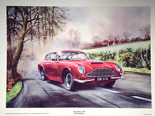 MR1 Aston Martin DB6 Motoring Classics Grand Tourer Print Painting Poster