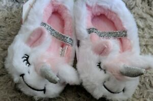 Cat & Jack Toddler Girl's White Unicorn Ballet Slippers Size 2T To 3T NWT