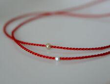 1 Wunscharmband Perle auf Rote Seidenarmband Freundschaftsarmband Minimalist