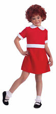 Little Orphan Annie Costume Red Fancy Dress Musical Movie Theatrical Girl Child
