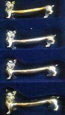 6 Poggiaposate in metallo - VINTAGE a forma di gatto, gattina