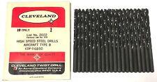 "Type A #10 HSS Drill Cleveland Twist Drill USA Made 1000 Just above 3//16/"""