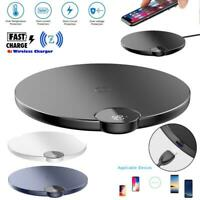 BASEUS Wireless Charger Pad Qi 10W Fast Charger Pad Mat for iPhone X XS XS Max