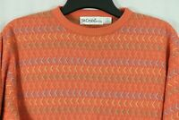 St. CROIX Knits XL Colorful Pastel Crewneck Sweater Bamboo Cotton Made in USA