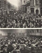 SALVATION ARMY. Charity. Oxford Street. Blackfriars Road. London 1926 print