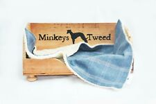 TWEED & FLEECE DOG BLANKET CREATE LINER BLUE POLO TWEED X SMALL 33 by 26 cms