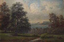 JOHN WRIGHT OAKES-British Realist- Signed Oil Painting-Landscape- Looe, UK