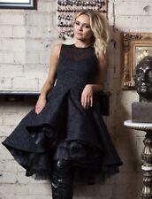 Black jacguard prom cocktail bridemaid dress NWT small Reg $295