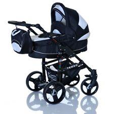 3 in1 Kombi Kinderwagen Komplett Set Buggy Babyschale Baby Autositz Schwarz